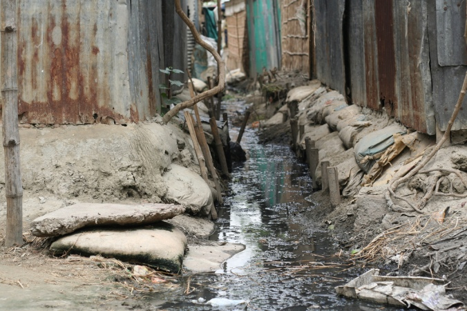 Open sewers like this are common in much of the world, and pose health and environmental risks
