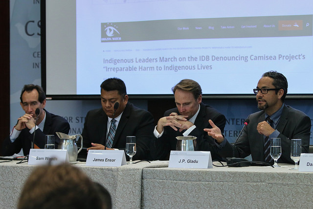 Panelists at a recent event hosted here at CSIS discussing partnerships between extractive companies and indigenous communities.